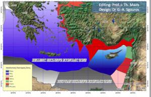 Χάρτης-εφιάλτης για τη Τουρκία! Οι ΑΟΖ Ελλάδας-Κύπρου και το Καστελόριζο ....